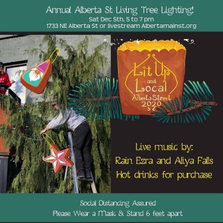 We were invited to book some youth acts and provide live streaming services for the Annual Alberta St Living Tree Lighting ceremony by @albertastreet Join us and @everything_ezra and @aliyakie as they sing to ring in a joyous holiday season. Socially distanced in person or live streamed at Albertamainst.org Thanks to their sponsors @umpquabank, @scoutrealtyco, @gumbapdx, @gnomegrown_alberta