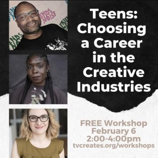 """@tualatinvalleycreates says """"There's still time to register for our upcoming FREE Workshop, """"Teens: Choosing a Career in the Creative Industries""""! This interactive program will give teens the unique opportunity to hear the stories of how four incredible local professionals found their way to life in the arts. High school juniors and seniors are invited to bring their questions about how to make a living as an artist, college decisions, resources for students, and more"""" Their four-member panel includes our ED Andre Middleton (@madsdad67), Christine Miller, Portland-based conceptual artist and curator; Leah Payne, design professional at the Center for Creative Leadership; and Danielle Gurley (not pictured), freelance executive producer and advertising instructor. Please share this workshop info with any young artists you know! Registration can be found at www.tinyurl.com/creativeimpactworkshops @reynoldsartshow @riderconnection @lhscareercenter @chs_designandprint @clevelandbandspdx @thecenterpdx"""