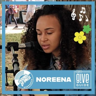 Friends of Noise supports youth musicians like @nernaa and organizations like @portlandfarmers because they know that it's important to value the contributions of the youth of our communities now as opposed to when they are able to vote and drink. Noreena has been a rider for Friends of Noise since the first workshop she attended (Independent Music Career 101 w/ @Lisavazquezmusic) Whether she helped provide sound at Rock the Block 2018 or playing at a Portland Farmers Market Music Stage (Will you look at that little girl! She was enraptured by Noreena's music) Portland Farmers Markets have given our youth performers paid opportunities to play for the vendors and shoppers that make their markets so special. Prior to the pandemic we had over 100 youth artists like Noreena play at a Market Music stage. The Arts have taken a real hit in the pandemic and as we head into 2021 we and Portland Farmers Market are going to need your help with a donation via the 2020 Willamette Week @Give Guide Today Is one of the Big Give Days where all donations will be entered to win a prize package from A to Z wines. All cumulative donations of $50 of more will get a 4 pack of Bubbly wine from A to Z as well. So please head over to our website and find the link to the Give Guide Portal and make a donation to our orgs today! #allagesalways #pdxmusic #teenmusic #portlandoregon #youthinaction #allagesallstages #homegrown